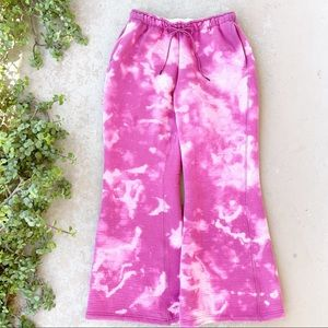 Nike Pink Tie Dye Perforated Flare Pants